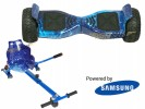 Drifter Blue Galaxy with Blue Galaxy Kart By HOVERBOARD<sup>®</sup>
