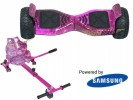 Drifter Pink Galaxy with Pink Galaxy Kart By HOVERBOARD<sup>®</sup>